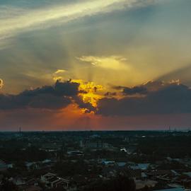 Light from Behind by Elvis Hendri - Instagram & Mobile Other ( sky, landscape photography, dusk, sunset, clouds, landscape )