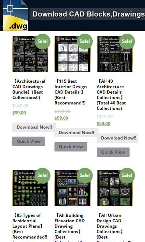 Autocad DWG Files Download- screenshot
