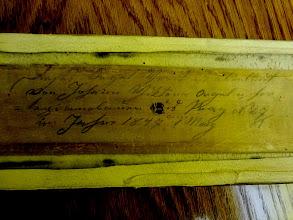 Photo: Nápisy, které po sobě zanechali varhanáři, kteří v minulosti varhany upravovali