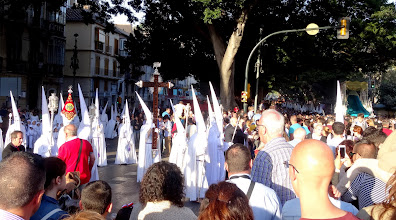Photo: There are young boys and girls, men and women of all ages among the Nazarenos