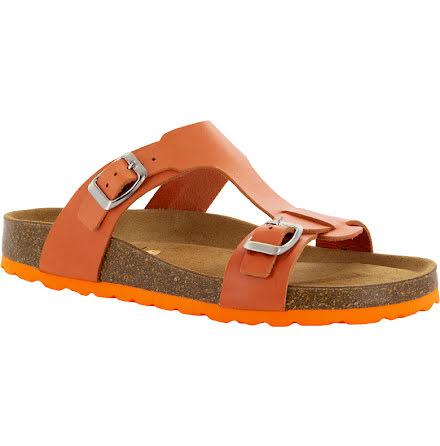 """Jill orange """"bio""""sandal med reglerbara spännen"""