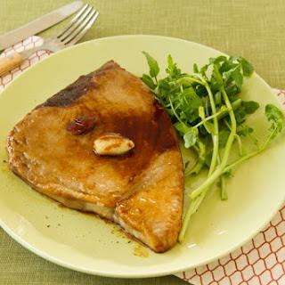 Grilled Tuna Steak with Homemade Teriyaki Sauce