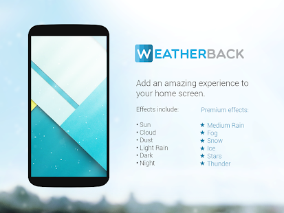 Weatherback Weather wallpaper Screenshot