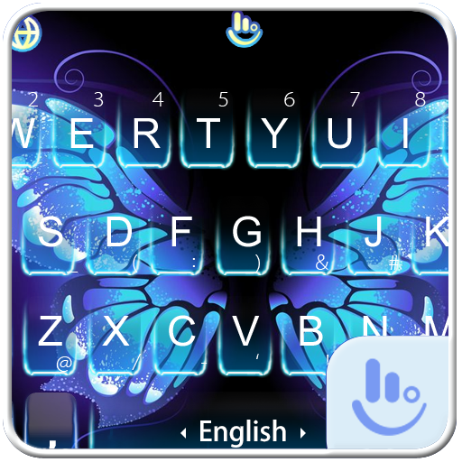 Magical Butterfly Keyboard Theme