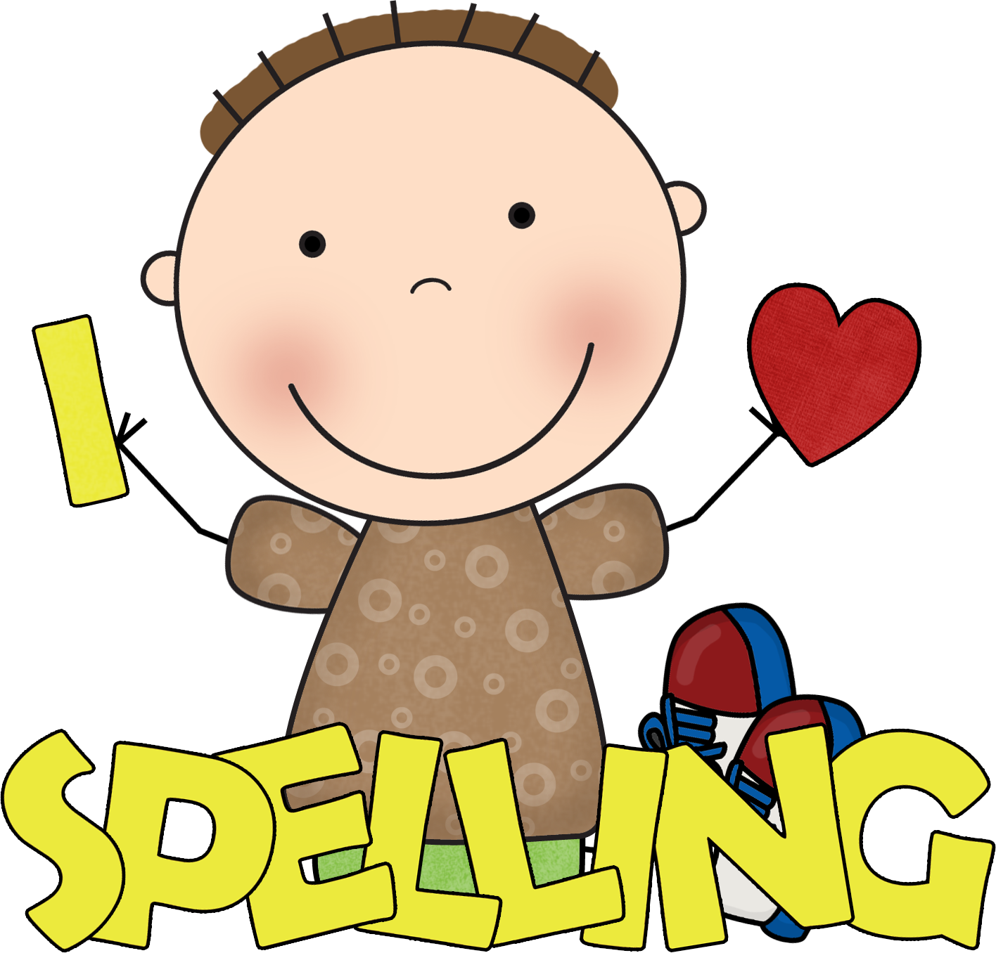 Spelling words clipart