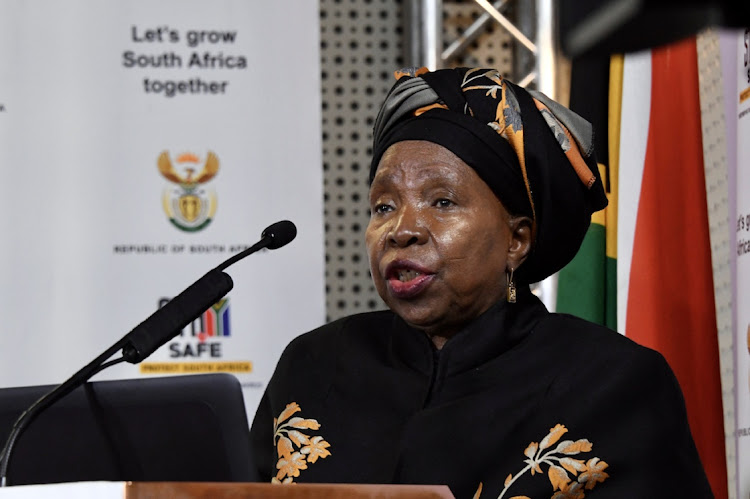 Co-operative governance and traditional affairs minister Dr Nkosazana Dlamini-Zuma. File photo.