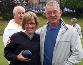 Photo: Anne ( a natural bowler) with Charlie