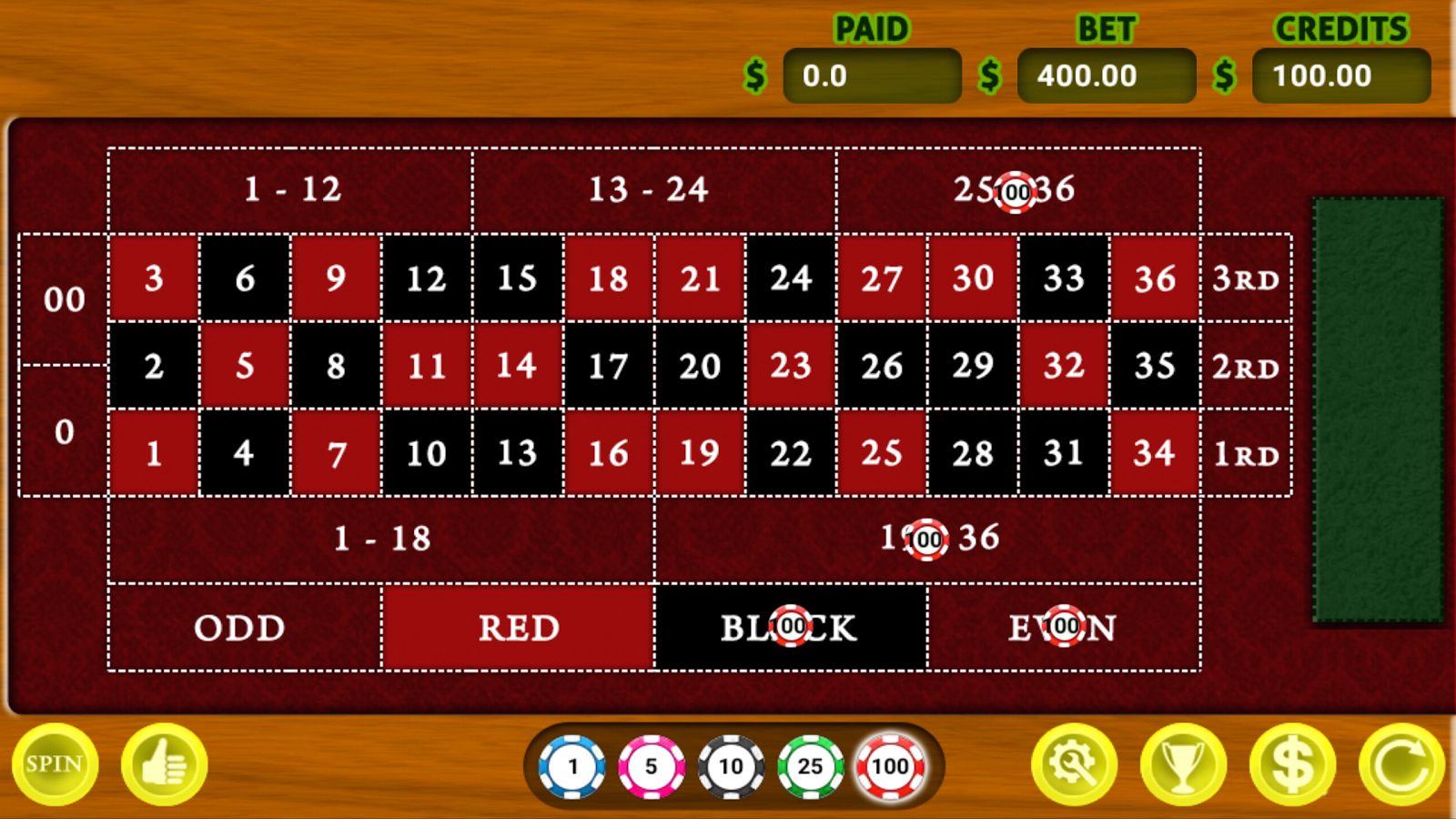 Roulette Vegas 888- screenshot
