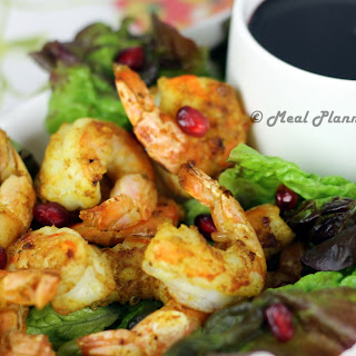 Grilled Moroccan Shrimp with Cherry-Pom Dipping Sauce.