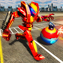 Robot Car Ball Transform Fight icon