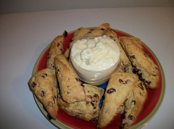 Orange Cranberry Scones/ Orange Cr. Cheese Spread Recipe