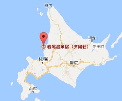 地図:岩尾温泉宿・夕陽荘