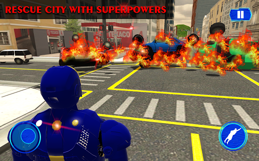Grand Iron Superhero Flying - City Rescue Mission download 1
