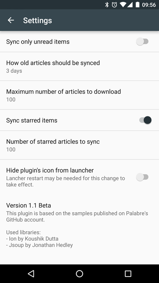 Feedbin for Palabre- screenshot
