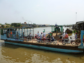 Photo: A ferry takes people to the other side of the river.