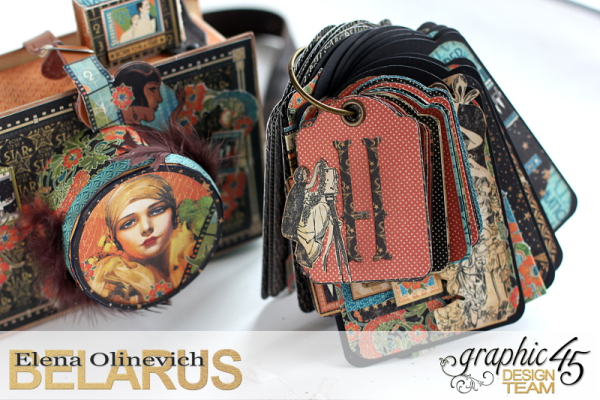 Tag Mini Album  Vintage Hollywood  by Elena Olinevich product by Graphic45  photo10