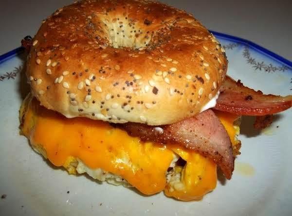 Hearty Mans Breakfast Bagel