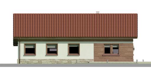Dom przy Przyjemnej 12 bis - Elewacja tylna