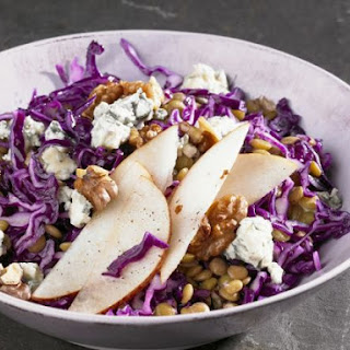 Shredded Red Cabbage and Lentil Salad