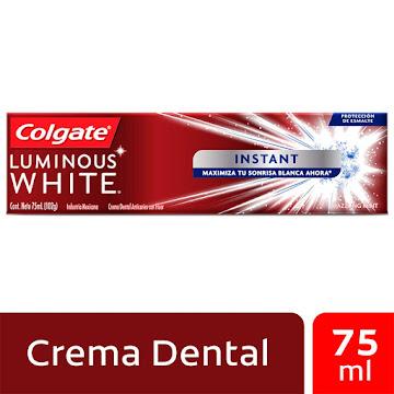 Crema Dental Colgate   Luminous White Instant Dazzling Mint X75Ml.