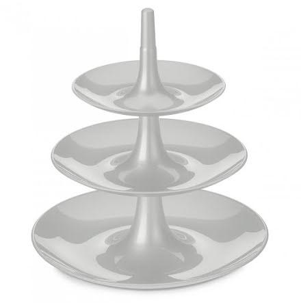 BABELL L, Kakfat / Våningsfat / Serveringsfat, soft grå