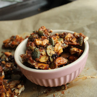 Healthy Caramel Nut and Seed Brittle