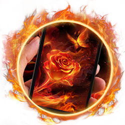 Fiery Rose Live Wallpaper