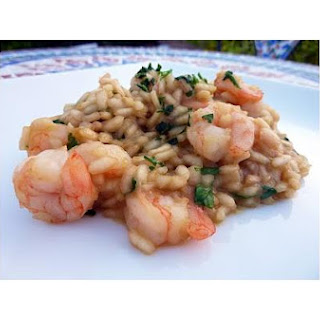 Risotto With Shrimp and Arugula