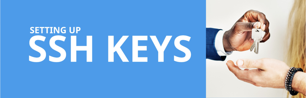 Setting up SSH keys header