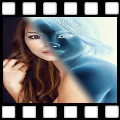 Negative Image Photo Effect