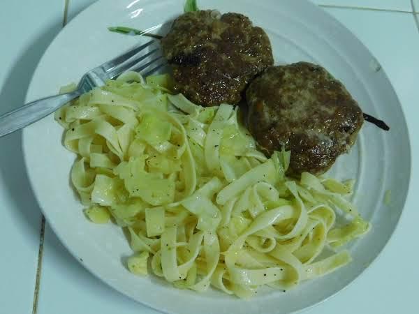 Fried Cabbage & Egg Noodles