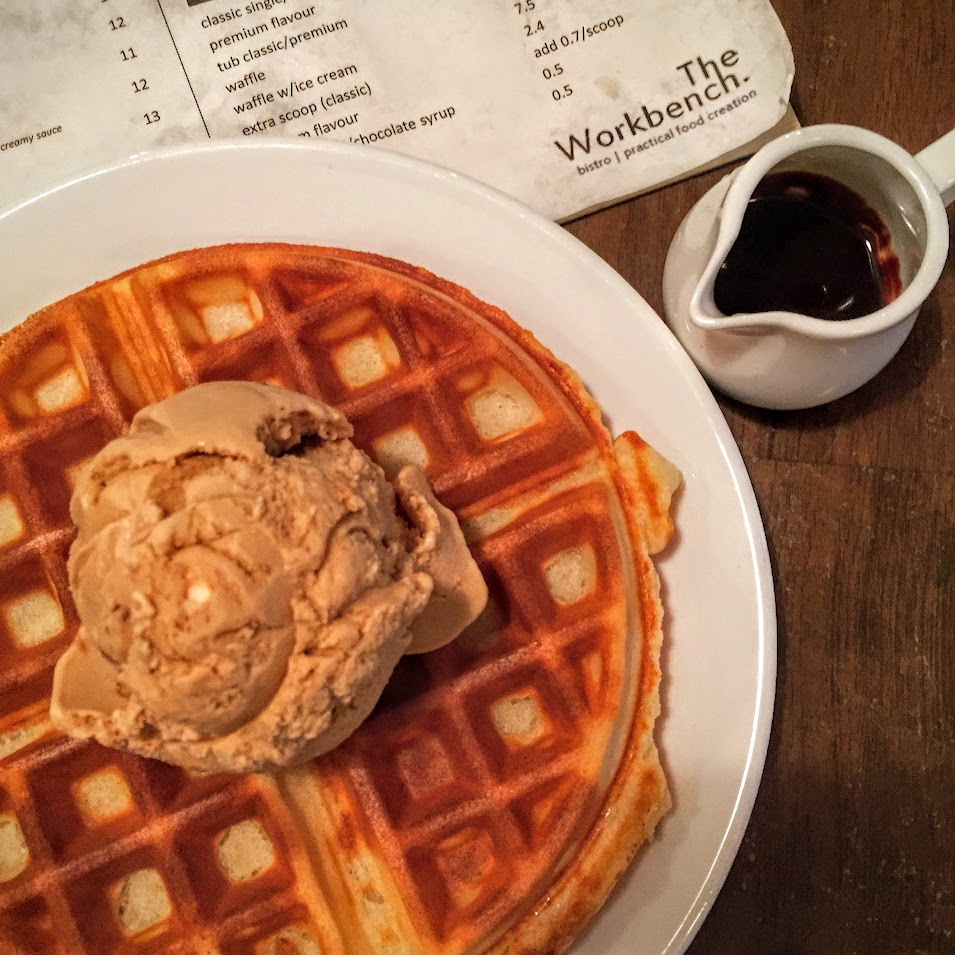 Waffle with Salted Caramel Ice Cream