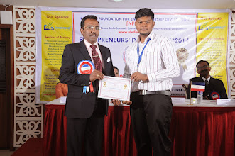 Photo: Prof. Dr. R. Ganesan, Chairman, NFED Issuing Certificate of Appreciation To Mr. Mohan Kumar Balasubramanian, Software Developer & Instructor, Bonfring, Coimbatore