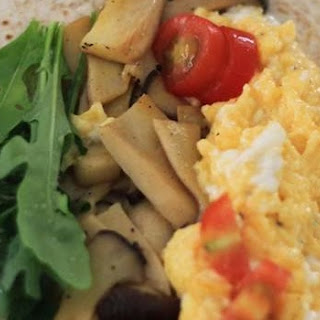 Scrambled Egg and Mushroom Wrap Recipe