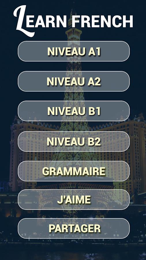 apprendre le français– Capture d'écran
