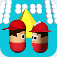 Collision ball-3D color ball rolling bump games icon