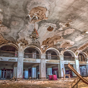 Walker Hotel by Debbie Duggar - Buildings & Architecture Decaying & Abandoned ( mineral wells, walker hotel, texas, hotels, abandoned )