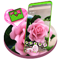 Pink Rose Love Launcher Theme icon