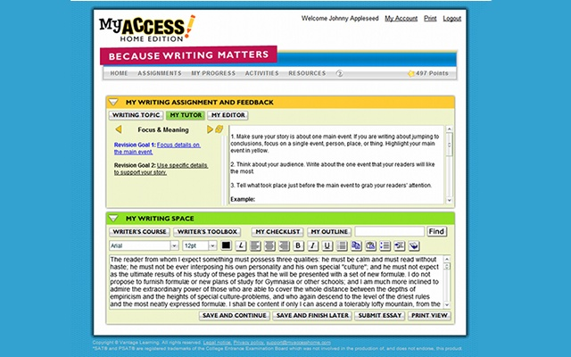 my access essay Starting your extended essay is a big challenge  will you actually have access  to the secondary information you'll need to answer your question and will you.
