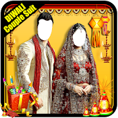 Diwali Couple Photo Suit