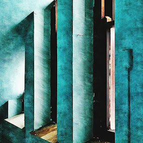 Phase 4a by Kevin Lucas - Buildings & Architecture Other Interior ( blue, teal, windows, architecture, light, decay, abandoned,  )