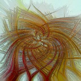 Abstract Flower by Edward Gold - Digital Art Abstract ( digital photography, abstract flower, green, abstract art, blue, brown, light blue background, digital art,  )