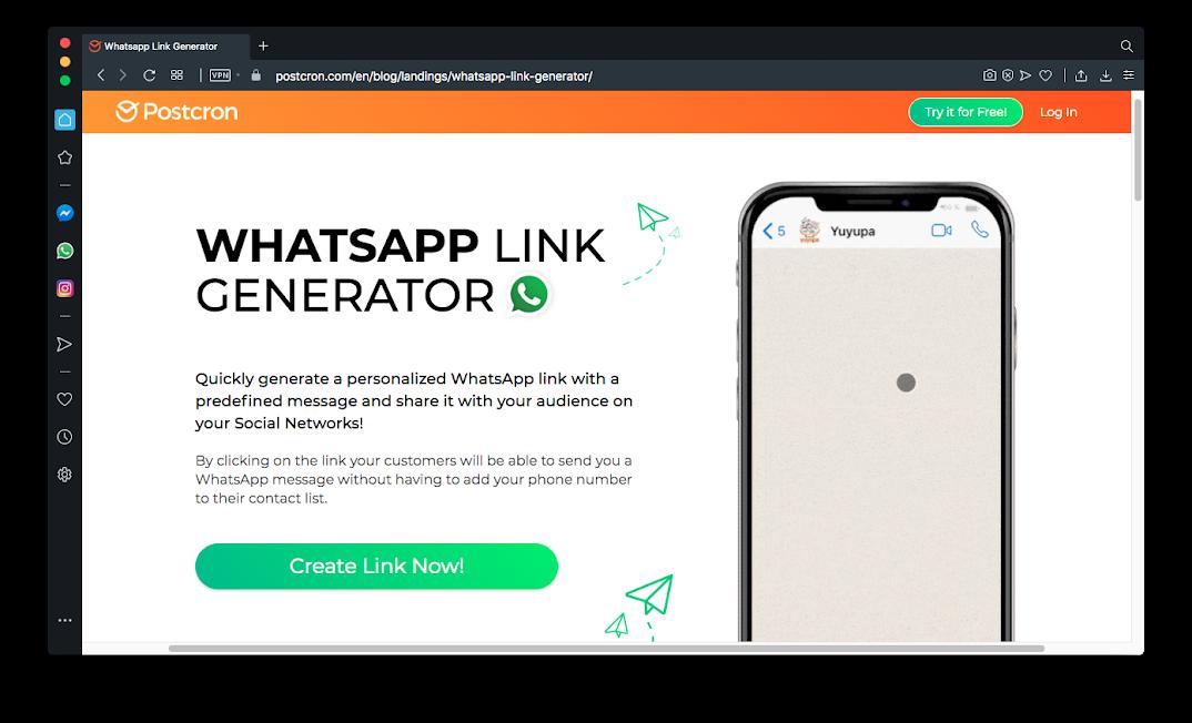 Whatsapp link generator - pojokan.web.id