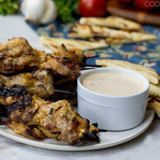 Indian-Spiced Grilled Chicken with Yogurt Sauce.