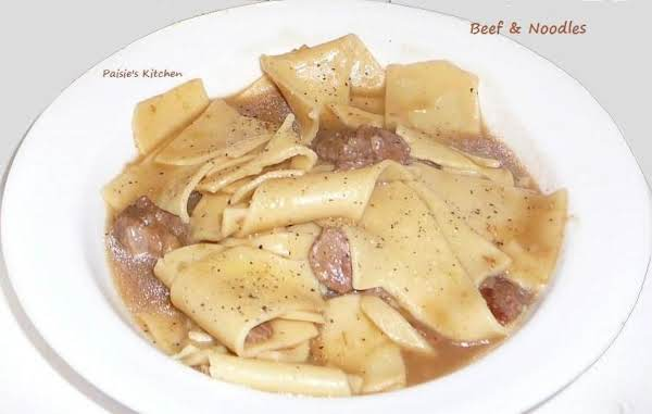 Crockpot Beef & Noodles Recipe