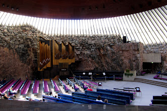 Photo: CHURCH OF THE ROCK    http://en.wikipedia.org/wiki/Temppeliaukio_Church