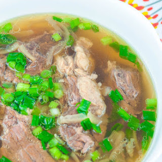 Slow Cooked Beef Lauya Soup
