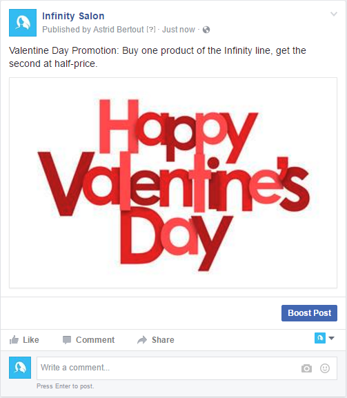 Promotion for Valentine Day