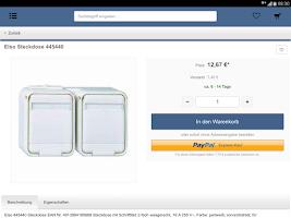 Screenshot of Elektroversandhandel