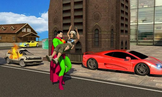Flying Superhero - 3D City Rescue Mission - náhled